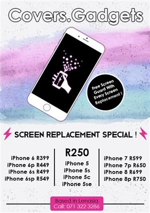 Iphone screen replacment specials