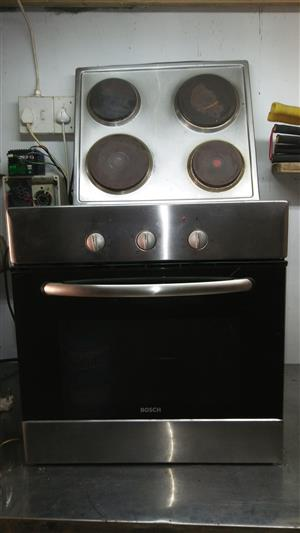 Bosch ST ST oven and 4 plate hob