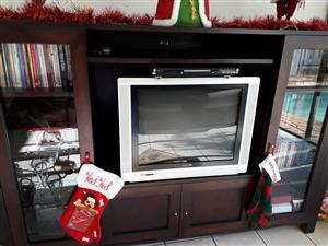 Dark wood TV/Display unit for sale