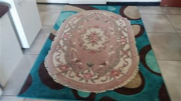 Oval victorian type rug for sale