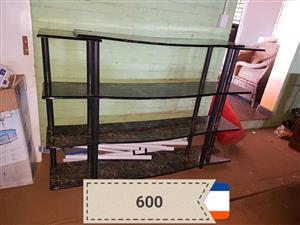 Modern 4 tier tv stand shelf