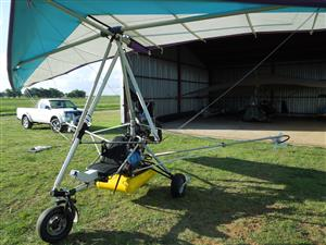 Microlight with the crop spray rig . Rotax 582 engine with E box and elecric starter. Three blade NG prop.  75 hours.