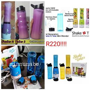 Various colored shake n take shakers