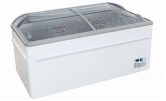 75″ Curved Glass Top Supermarket Island Display Freezer with Electronic Display (FSMR1700SL)
