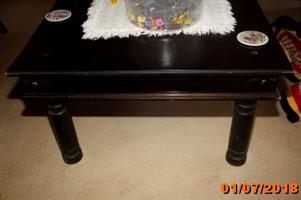 Large dark wood coffee table for sale