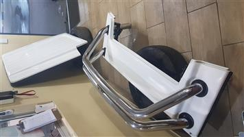2014up Toyota Hilux d/c - roll bar and fibre glass canopy with shocks