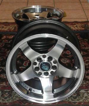 "15"" 8j rims to swop/sell"