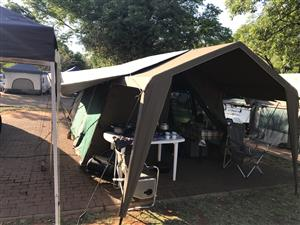 Large canvas tent