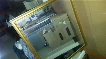 big mirror with gold frame like new
