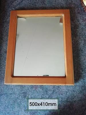 Mirror oak frame