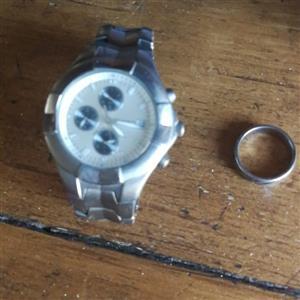 titanium watch plus ring