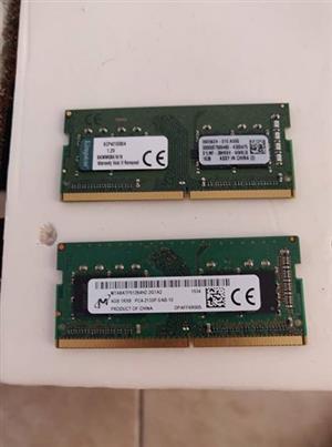 (2x) DDR4 4Gb 2133Mhz Laptop Ram