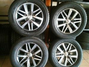 A set of new 18'' Toyota Hilux mags and tyres at R 12499