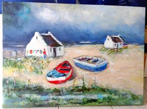 Fisherman Cottages by Inge! Beautiful Painting.