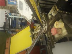 4 station screen printing carousel.