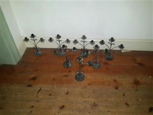 Candle Holders Metal x7