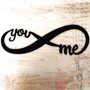 YOU & ME FOREVER STEEL SIGN