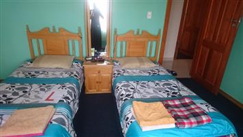 Twin Beds and Headboard
