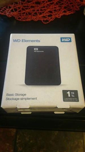 WD elements 1tb harddrive brand new