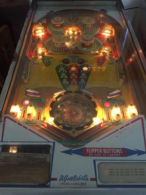 Genuine Gottlieb Bros Pinball Machine