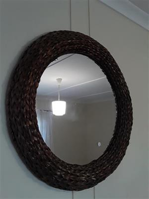 Round woven mirror for sale