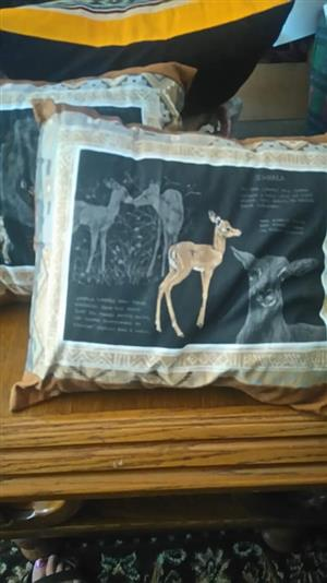 Little goat themed couch cushions