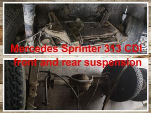 Mercedes Sprinter 313 CDI front and rear suspension for sale.