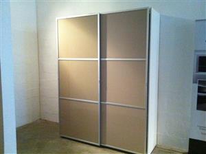 CLEARANCE SALE!!! Imported Italian manufactured glass and aluminium wardrobe/BIC
