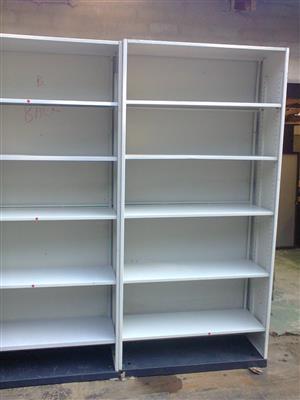 Steel Shelf Units.  used