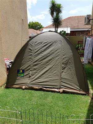 3x3m canvas tent met springsteel pale