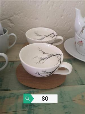 White and black tree sequence cups for sale