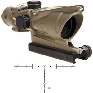 Trijicon 4x32 ACOG Riflescope with TA51 Mount (Green  Horseshoe/Dot Dual-Illuminated Reticle)