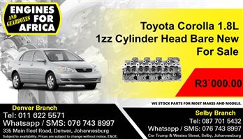 Toyota Corolla 1.8L 1zz Cylinder Head Bare For Sale