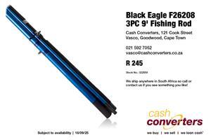 Black Eagle F26208 3PC 9' Fishing Rod
