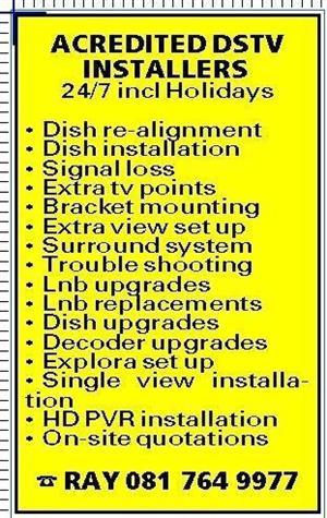 Call 0817649977 - Dstv/Ovhd installer Kraaifontein 24/7