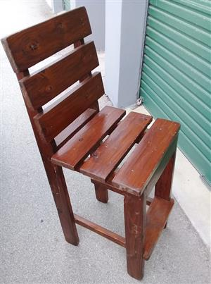 3 x Bar chairs in fair condition