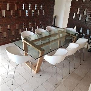 Weylandts dining room table and 8 chairs