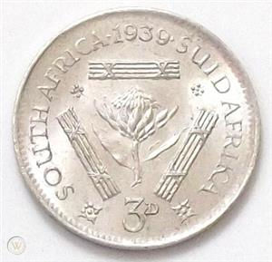 Rare 1939 tickey for sale