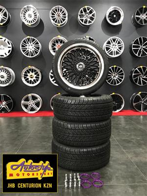 Clearance 18 inch 5-120 pcd set of 4 mags with 225-45-17 Bridgestone Runflat tyres.