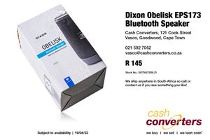 Dixon Obelisk EPS173 Bluetooth Speaker
