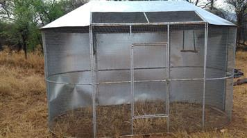Large steel outdoor bird cage