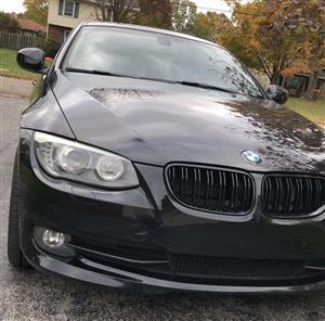 BMW 3 Series (E92 LCI) Front Double Slat Grille - Gloss Black