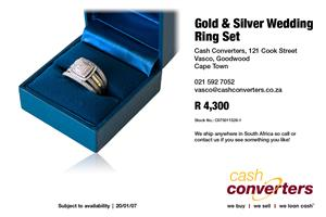 Gold & Silver Wedding Ring Set