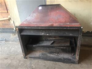JetMaster Fireplace with Basket Grate and Pan