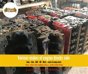New & used engine blocks