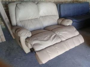 100% genuine leather recliners