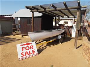 Small fishing boat on Trailer