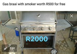 Gas braaier+roker