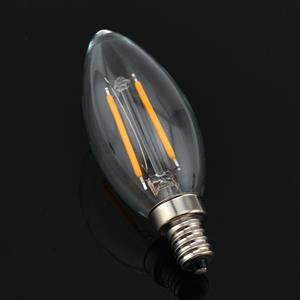 LED Light Bulbs: Filament LED Candle Light Bulbs in Warm White. Brand New.