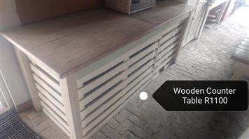 Wooden counter table